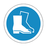 Safety Boots Floor Marker Sticker | Safety-Label.co.uk