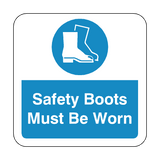 Safety Boots Must Be Worn Floor Graphics Sticker | Safety-Label.co.uk
