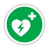 Defibrillator Floor Marker Sticker | Safety-Label.co.uk