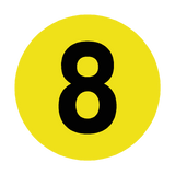 Number 8 Floor Marker | Safety-Label.co.uk