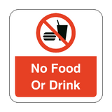 No Food Or Drink Floor Graphics Sticker | Safety-Label.co.uk