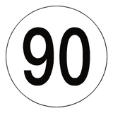 90 Kph Speed Limit Sticker International | Safety-Label.co.uk