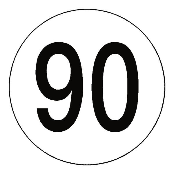 90 kph speed limit sticker international  u2013 safety