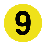 Number 9 Floor Marker | Safety-Label.co.uk