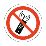 No Mobile Phones Floor Marker Sticker | Safety-Label.co.uk