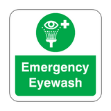 Emergency Eyewash Floor Graphics Sticker | Safety-Label.co.uk