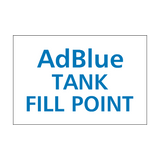 AdBlue Fill Point Sticker | Safety-Label.co.uk