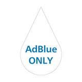 AdBlue Only HGV Sticker | Safety-Label.co.uk