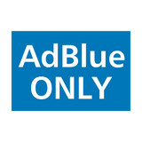 AdBlue Only Vehicle Sticker | Safety-Label.co.uk