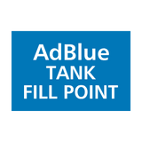 AdBlue Tank Fill Point Sticker | Safety-Label.co.uk
