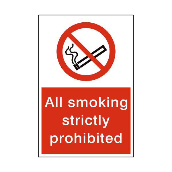 Smoking Prohibited Sticker - Safety-Label.co.uk
