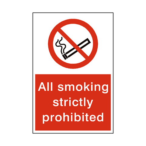 Smoking Prohibited Sticker