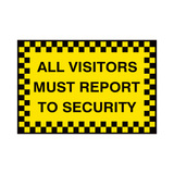 Report To Security Sign - Safety-Label.co.uk