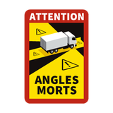Blind Spot Angles Morts Truck Magnetic Sign - Safety-label.co.uk