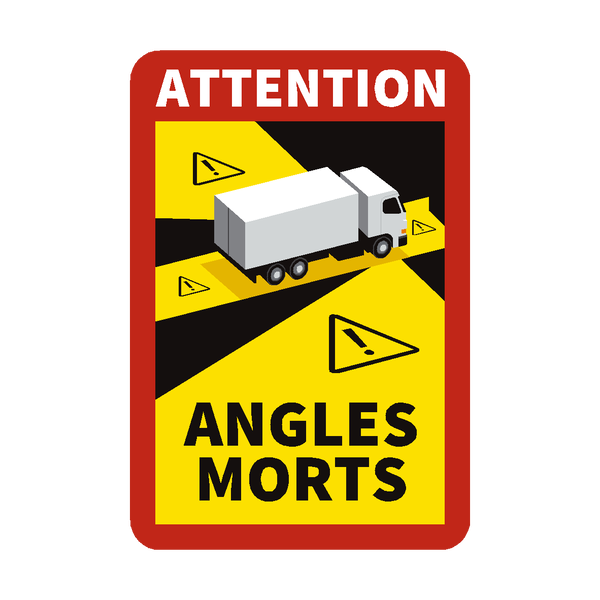 Blind Spot Angles Morts Truck Sticker - Safety-label.co.uk