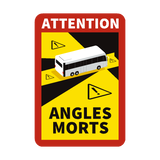 Blind Spot Angles Morts Coach / Bus Magnetic Sign - Safety-label.co.uk