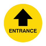 Entrance Arrow Floor Sticker | Safety-Label.co.uk