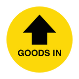 Goods In Arrow Floor Sticker | Safety-Label.co.uk