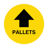 Pallets Arrow Floor Sticker | Safety-Label.co.uk