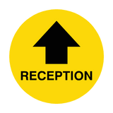 Reception Arrow Floor Sticker | Safety-Label.co.uk