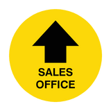 Sales Office Arrow Floor Sticker | Safety-Label.co.uk