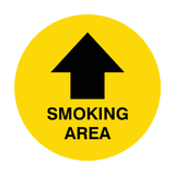 Smoking Area Arrow Floor Sticker | Safety-Label.co.uk