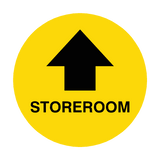 Store Room Arrow Floor Sticker | Safety-Label.co.uk