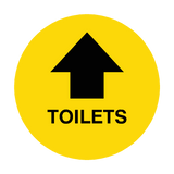 Toilets Arrow Floor Sticker | Safety-Label.co.uk