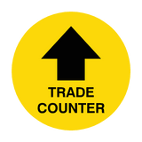 Trade Counter Arrow Floor Sticker | Safety-Label.co.uk