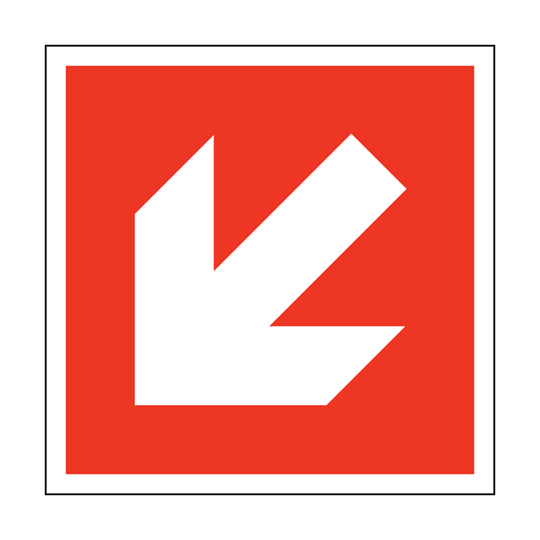 Arrow Sticker Down Left | Safety-Label.co.uk