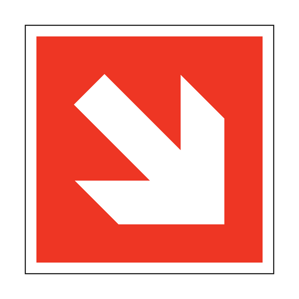 Arrow Safety Sticker Down Right | Safety-Label.co.uk