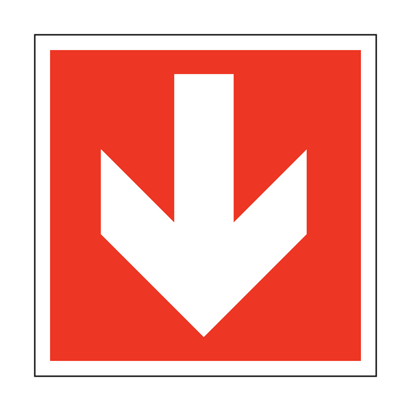 Arrow Safety Sticker Down - Safety-Label.co.uk