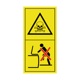 Beware Poisonous Gases - Do Not Open Containers Sticker | Safety-Label.co.uk