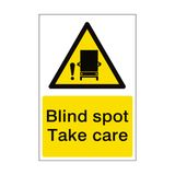 Blind Spot Take Care Sticker - Safety-Label.co.uk