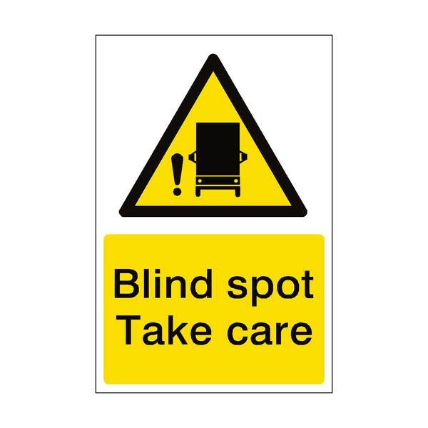 Blind Spot Take Care Sticker | Safety-Label.co.uk