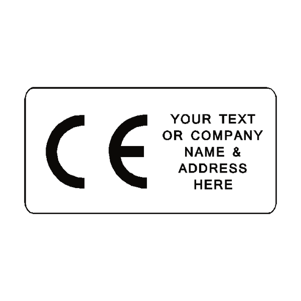 CE Label Custom Text | Safety-Label.co.uk