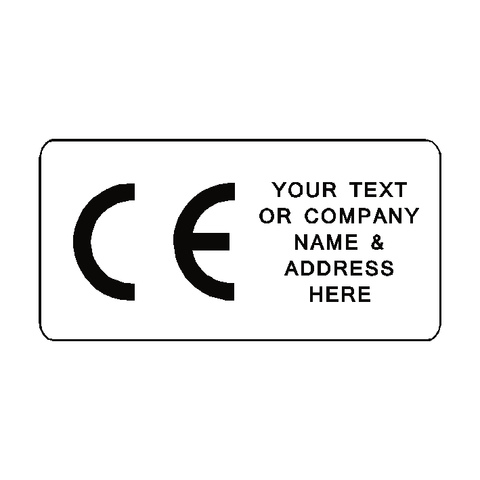 CE Label Custom Text - Safety-Label.co.uk