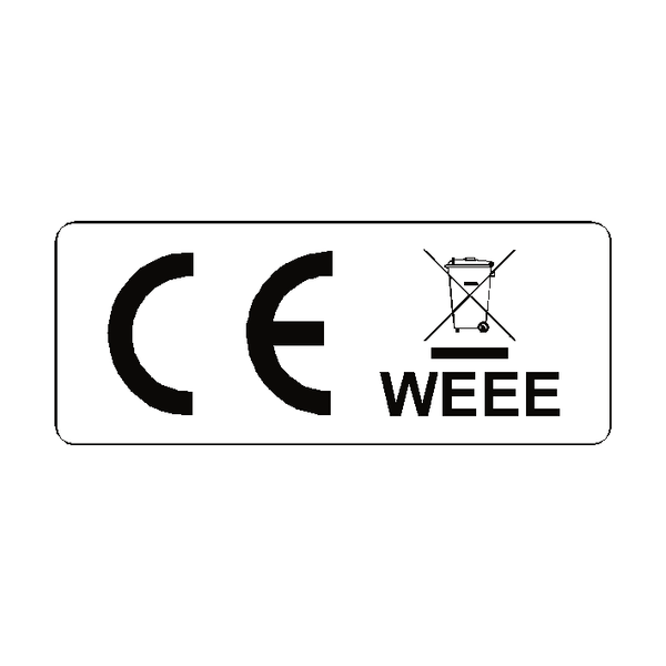 CE WEEE Label Oblong - Safety-Label.co.uk