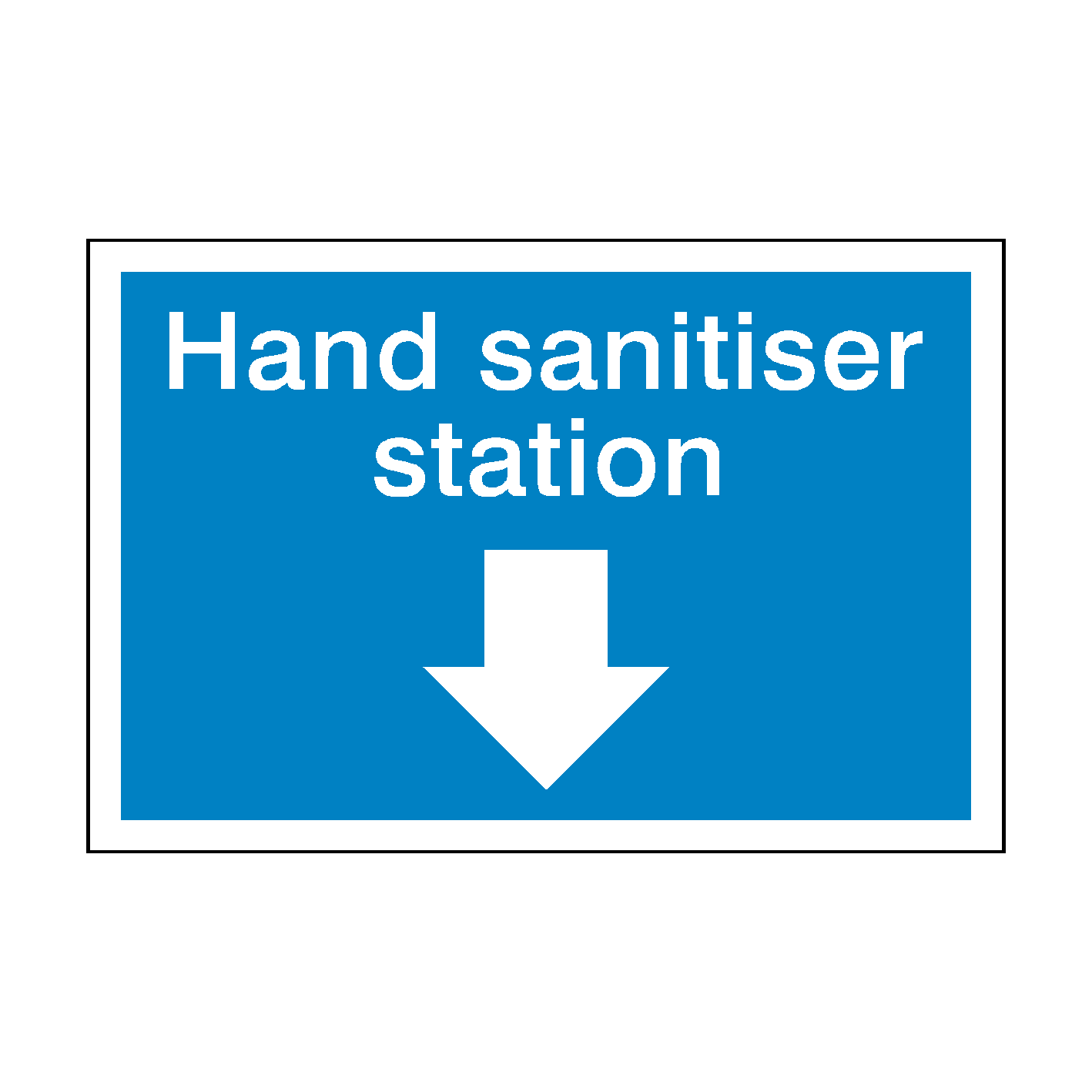 Self adhesive sticker 200mm x 150mm Use Hand Sanitiser safety sign