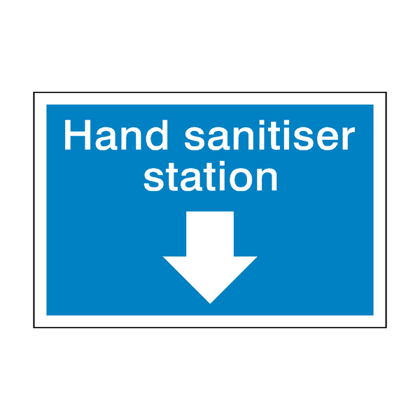 Hand Sanitiser Station Sticker | Safety-Label.co.uk