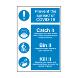 COVID-19 Prevention Sticker | Safety-Label.co.uk