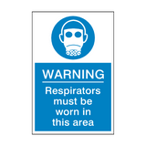 Respirators Must Be Worn Sign | Safety-Label.co.uk