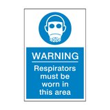 Respirators Must Be Worn Sticker | Safety-Label.co.uk