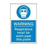 Respirators Must Be Worn Past This Point Sign | Safety-Label.co.uk