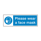 Wear Face Masks Label | Safety-Label.co.uk