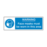 Face Masks Must Be Worn Safety Sign | Safety-Label.co.uk