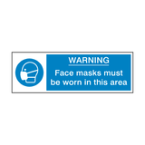 Face Masks Must Be Worn Label | Safety-Label.co.uk