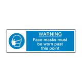 Face Masks Must Be Worn Past This Point Safety Sign | Safety-Label.co.uk