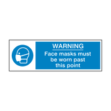 Face Masks Must Be Worn Past This Point Label | Safety-Label.co.uk