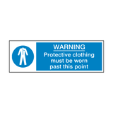 Protective Clothing Must Be Worn Past This Point Label | Safety-Label.co.uk